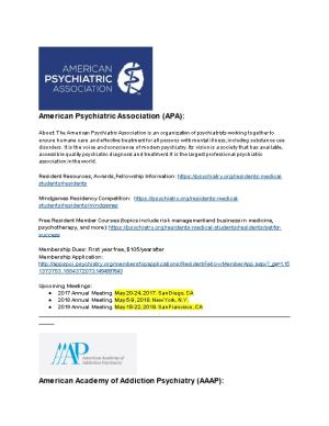 American Psychiatric Association (APA)