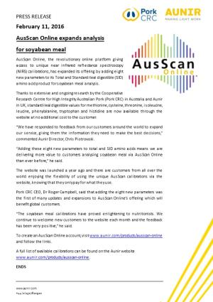 Ausscan Online Expands Analysis