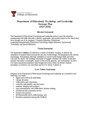 Department of Educational Psychology and Leadership