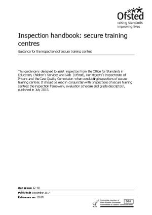 Inspection Handbook: Secure Training Centres