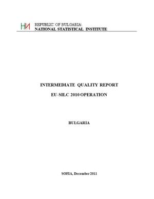 Intermediate Quality Report