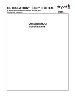 Outsulation HDCI System Specifications - DS864
