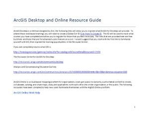 Pennshare Arcgis Online and Desktop Resource Guide