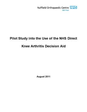 Pilot Study Into the Use of the NHS Direct Knee Arthritis Decision Aid
