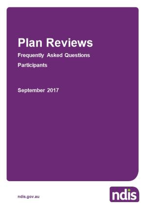 Plan Reviews- Participant FAQ September 2017