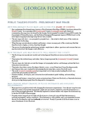 Public Talking Points-Preliminary Map Phase