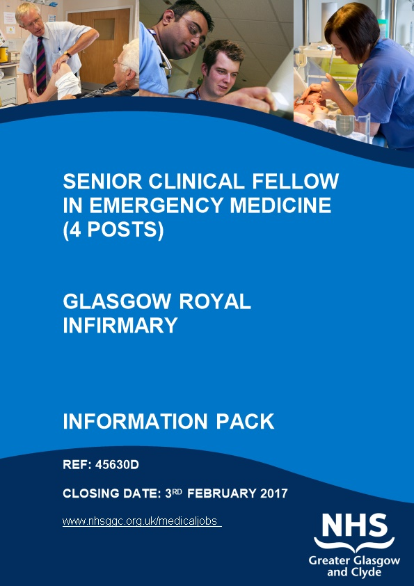 Senior Clinical Fellow in Emergency Medicine (4 Posts)