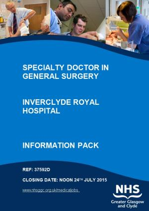 Specialty Doctor in General Surgery