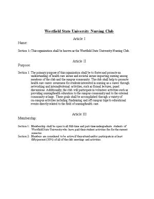 Westfield State University Nursing Club