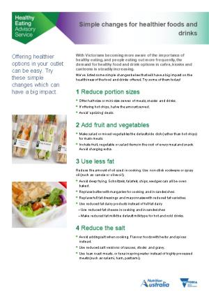 With Victorians Becoming More Aware of the Importance of Healthy Eating, and People Eating