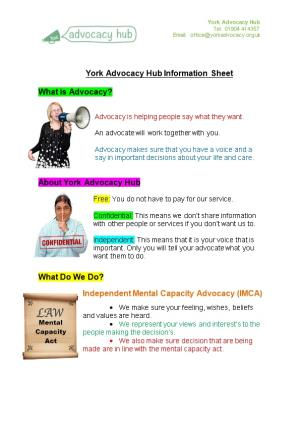 York and District Mind General Counselling Assessment Form